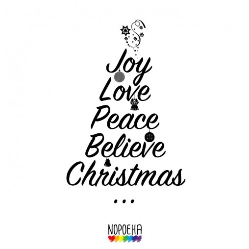 Joy Love Peace Believe Christmas Joy