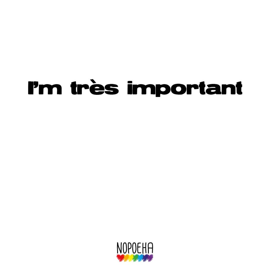 I am très important