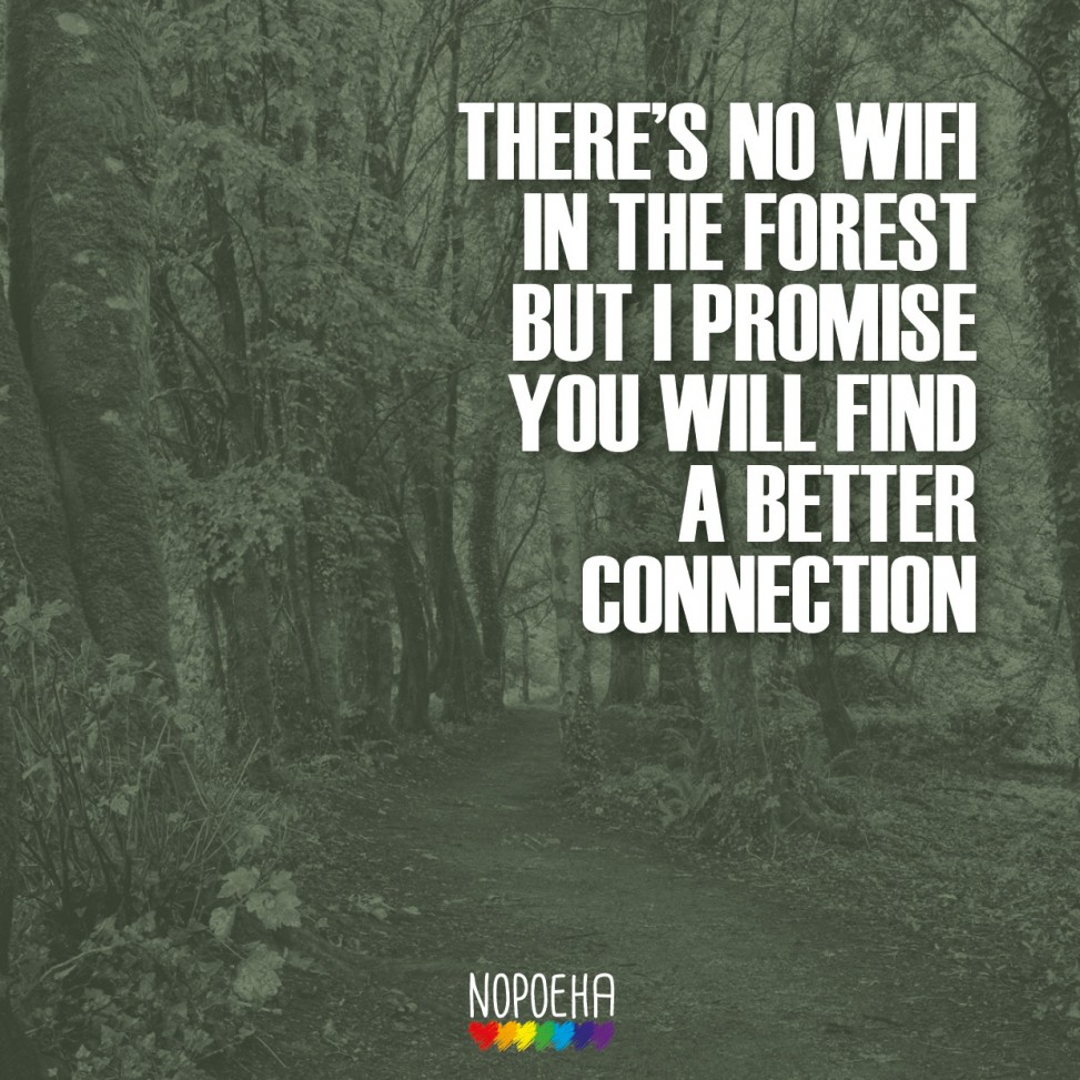 No wifi in the forest