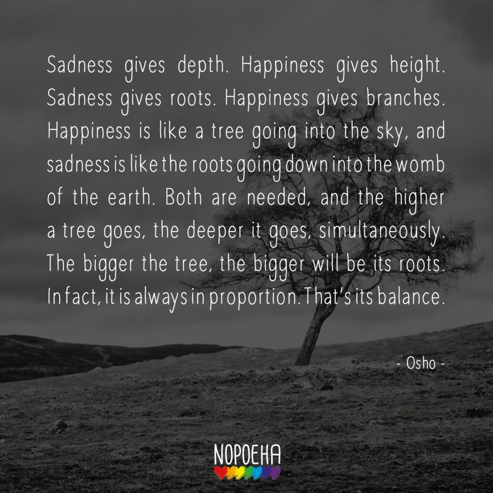 Sadness gives depth