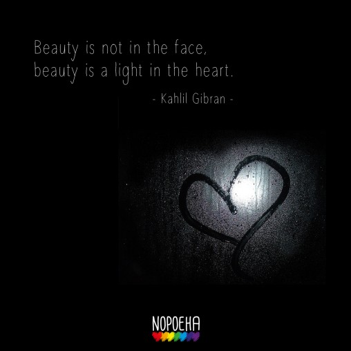 beauty is not in the face