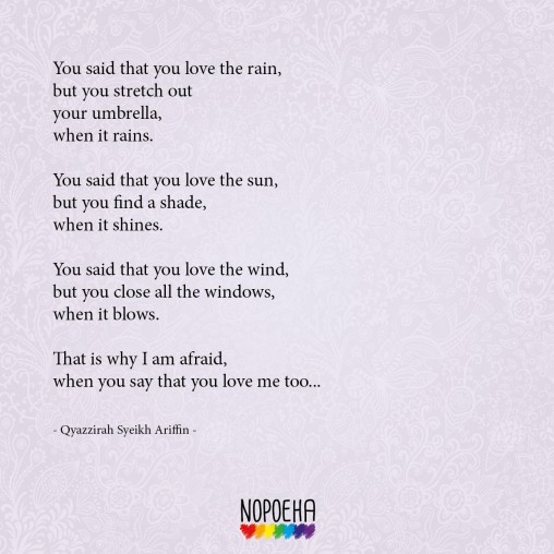 you say you love rain