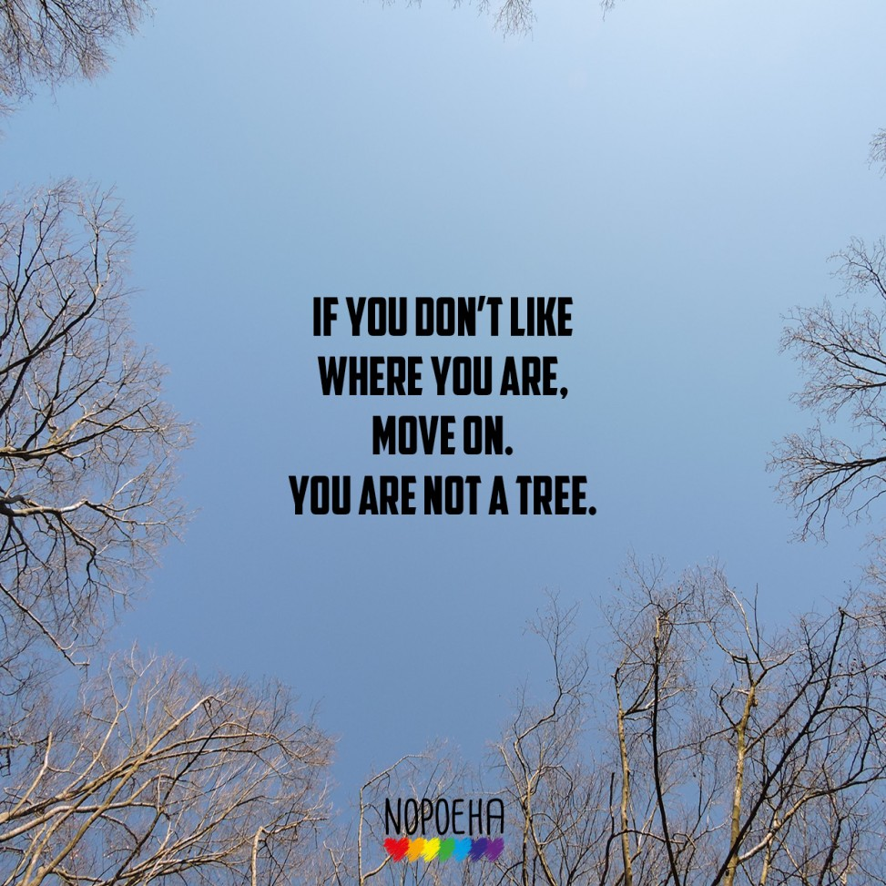 you're not a tree